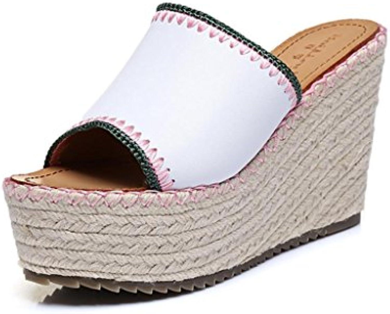 BaiLing Pantofole Pantofole Pantofole estive delle donne tacco a caldo handmade paglia lavorata a maglia sottile paglia sottile piccole... | Export  a85d3f