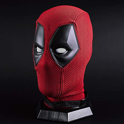 Marvel Kostüm Deadpool - QWEASZER Marvel X-Men Deadpool Vollmaske Helm, Film Cosplay Kostüm Zubehör, Halloween Maske Helm für Erwachsene Männer Kostüm Leistung Requisiten,Red Deadpool-<62cm