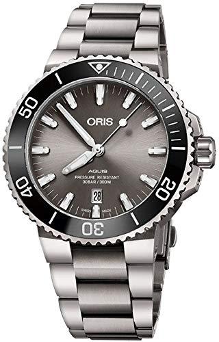 Oris Aquis 73377307153MB Herren Armbanduhr Titan