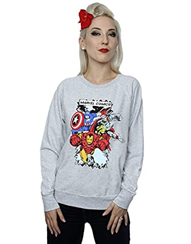 Marvel Femme Comic Characters Sweat-shirt Medium Heather Gris