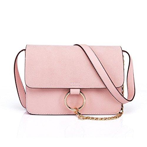 Diagonale Piccolo Anello Della Catena Della Borsa Pacchetto Quadrato,Pink pink