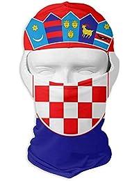 f8f42412a4a3 Zcfhike Bandera de Croacia Motocicleta de Invierno Máscara Facial Completa  Protección UV Pasamontañas para Hombres y