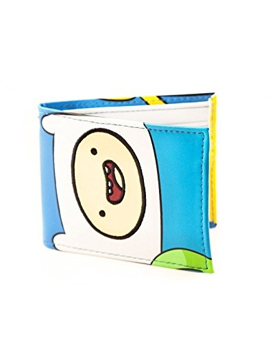 Cartoon Network Adventure Time Jake und Finn Gesicht Blau Portemonnaie (Bmo Kostüm Kinder Für)
