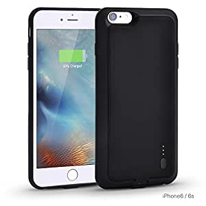 iPhone 6s Plus Charger Case, Kinps 2000mAh Rechargeable Backup Battery Protection Case for Iphone 6/6S