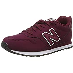 New Balance 500, Zapatillas para Mujer, Rojo (Red/White Red/White), 39 EU