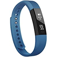 Delvfire Ignite Fitness Tracker Watch with Sleep Monitor, Activity Tracker, Step and Calorie Counter, Bluetooth Sports Pedometer Bracelet compatible with iPhone Android for Kids, Ladies, Women and Men