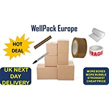 **NEW DEAL** 40 x EXTRA LARGE HOUSE MOVING REMOVAL BOXES PACK FOR A PERFECT MOVE *** NEXT DAY UK DELIVERY *** OFFICE MOVING REMOVAL BOXES PACK ** VISIT Our Exciting Amazon Packaging Catalogue - Search > Wellpack Europe
