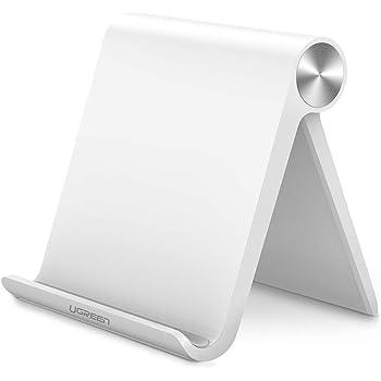 UGREEN Support Téléphone Bureau Réglable Dock Téléphone Pliable Compatible avec iPhone XS Max XR X 8 Plus 7 6, Samsung Galaxy S9 Plus S8 Note 9 S7 Edge S6 J7 J5 J3, Huawei Mate 20 Pro P20 (Blanc)