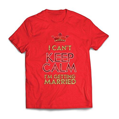lepni.me Männer T-Shirt Ich Heirate - Party Geschenkideen - Hochzeitsthemen (Small Rot - Last-minute-halloween-outfits Einfache