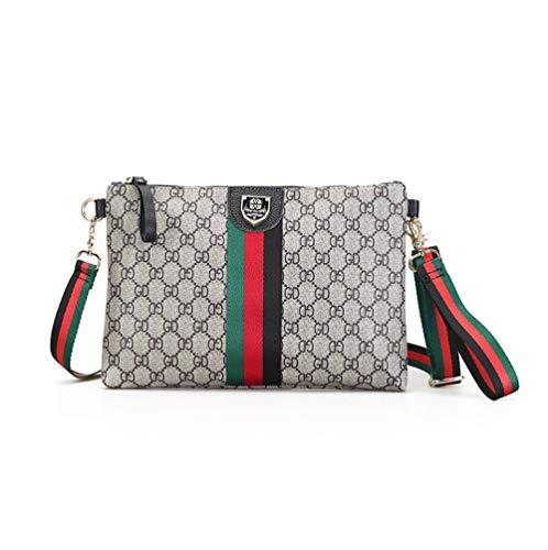YZJLQML Damen Tasche DamenbekleidungEinfache Umschlag Tasche Clutch Bag personalisierte Druck Schulter Diagonale Paket-Khaki