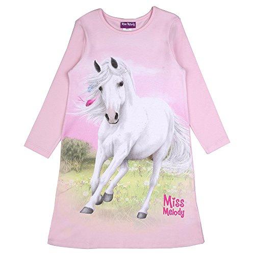 Miss Melody Mädchen Nachthemd, Rosa, Größe 116, 6 Jahre