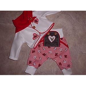 Baby-Trachtenhose gr 62/68 mit Jäckchen und Tuch