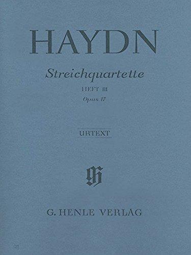 Quatuors a Cordes Volume 3, Op. 17
