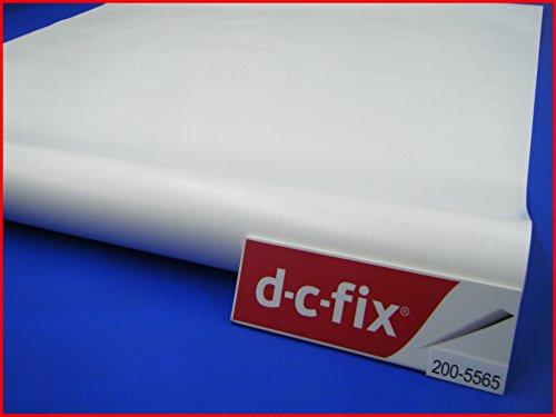 ed38b75c384 D C Fix adhésif Effet Cuir Blanc 90 cm x 2 m rouleau dos adhésif en vinyle