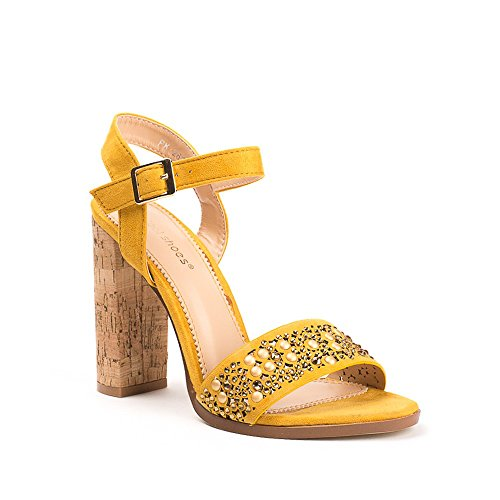 Ideal Shoes ,  Sandali donna Giallo