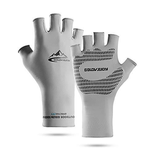 Golfhandschuhe,Halbfinger Fahrradhandschuhe für Herren und Damen,Sommer Anti-Rutsch Anti-UV Schutz Dünn Sonnenschutz Fäustlinge Gloves für Fahren Golf Outdoor Motorrad Radfahren
