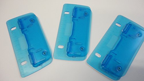 Taschenlocher Transparent Blau 3 Stück mit 12cm Skalierung