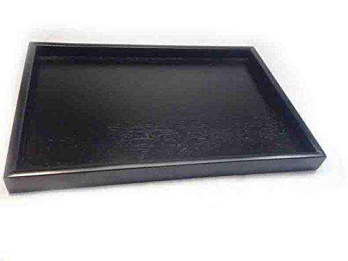 Rechteckige Osmanischen (Super UD Holz Serviertablett Dekoratives Tablett rechteckig osmanischen dienen für Lebensmittel Kaffee oder Tee, holz, schwarz, L)