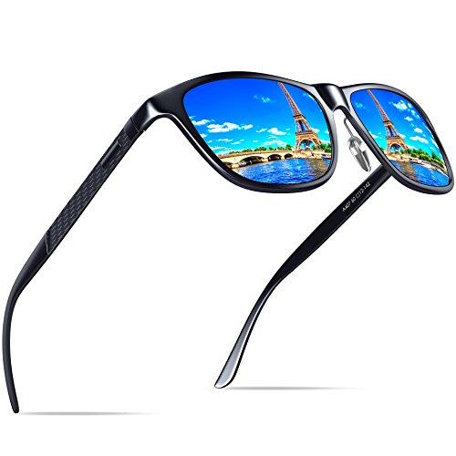 KITHDIA Herren Polarisierte Fahren Sonnenbrille Al-Mg Metall Rahme Ultra Leicht