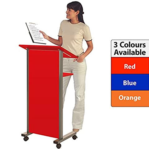 Wonderwall Mobile Coloured Lectern - Election special, choice of 3 colours, incl. (Red)