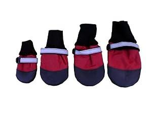 HDP Lot de 4 chaussettes imperméables pour chien