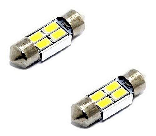 Preisvergleich Produktbild 2x E9-PRÜFZEICHEN TÜV FREI CE CANBUS LED LAMPEN SOFFITTE C10W 31MM 4-SMD chip 3W KALTWEIß Innen- Kennzeichen- Einstiegs- Kofferraum- Fussraumbeleuchtung
