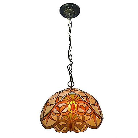 Nuomeiju® pendentif lumière NMJ007, avec des vitraux de l'ombre et base métal montés