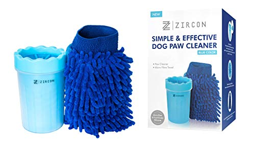 Zircon Dog Paw Cleaner For Gently Cleaning Muddy Paws - Portable Foot Washer Plunger Cup - Medium