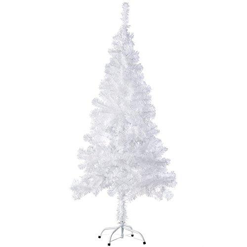 TecTake Künstlicher Weihnachtsbaum mit Metallständer | Tannenbaum, Christbaum, Kunsttanne - diversen Größen und Farben - (150 cm | 310 Spitzen | Weiß | Nr. 402818) (Weihnachtsbaum Großen Weißen)
