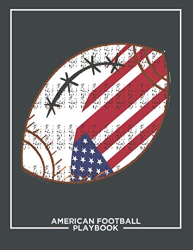 American Football Playbook: Football Notebook For Draw And Create Your Football Playbook Like a Coach 8.5 x 11 inch 100 Page For Youth or kid Coaches