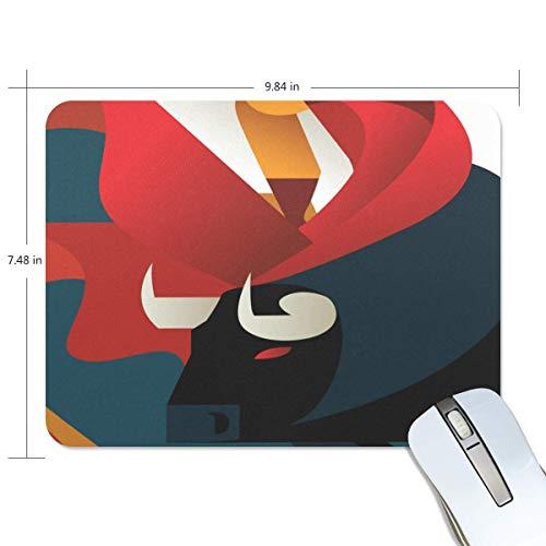 Tappetini per mouse tappetino per mouse con texture premium bull e matador tappetino per mouse con base in gomma antiscivolo per giochi computer laptop