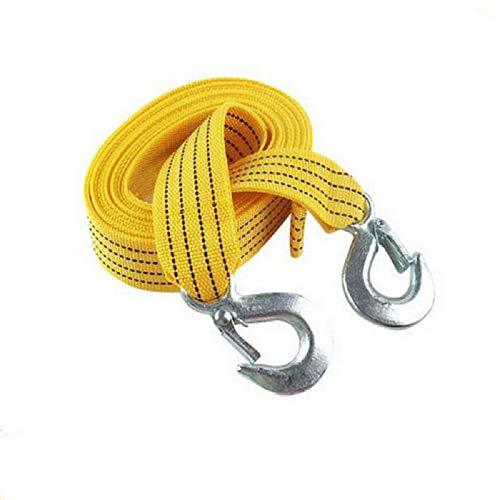 SLHP Auto Abschleppseil elastisch Schleppsei KFZ bis 5,0 t, Nylon Reißfestigkeit Abschleppschlinge mit 2 Haken (3 Meter, 3 Tonne)