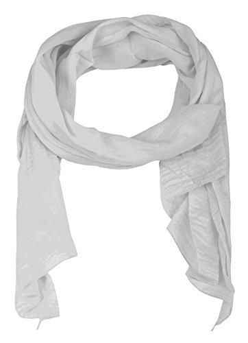 Seiden-Tuch Damen Uni Design - Made in Italy - Eleganter Sommer-Schal für Frauen - Hochwertiges Seidentuch / Seidenschal - Halstuch und Chiffon-Stola Dezentes Stilvolles Design von Zwillingsherz hgr