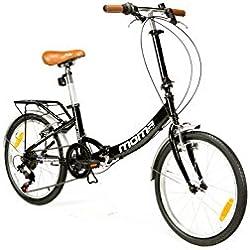 "Moma Bikes Bicicleta Plegable Urbana FIRST CLASS 20"" Alu, SHIMANO 6V. Sillin Confort"