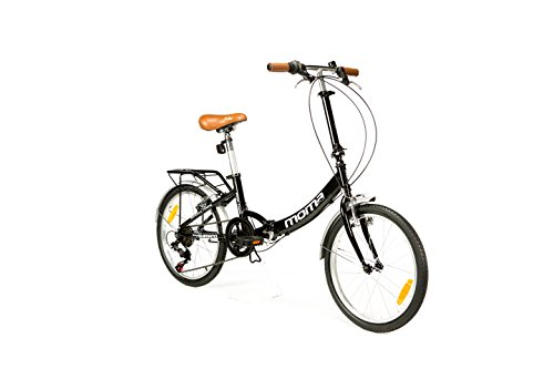 "Moma Bikes Plegable Ruedas 20"", color negro"