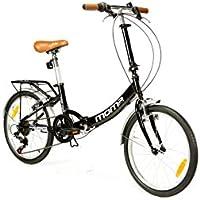 "Moma Bikes Plegable Ruedas 20"" Shimano. Aluminio Bicicleta, Unisex Adulto, Negro, No"