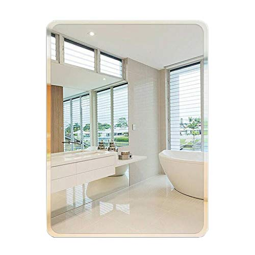 Espejos de vanidad de Pared Espejo de Pared Rectangular Espejos de baño...