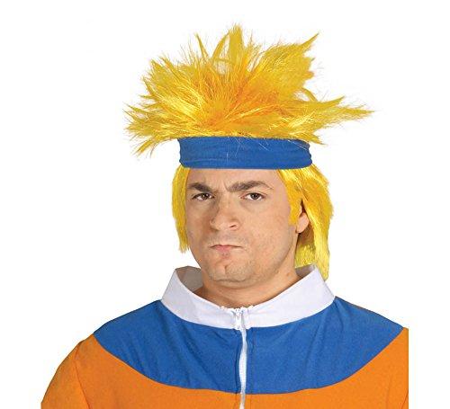 Peluca amarilla de Ninja Naruto
