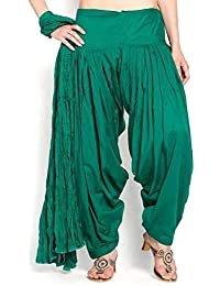 Sri belha fashions Women's Pure Cotton Plain Semi Patiala Dhoti Salwar Indian Pants EXPORT PRODUCTS (Without Dupatta)