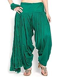 Sri belha fashions Women's Pure Cotton Plain Semi Patiala Dhoti Salwar Indian Pants EXPORT PRODUCTS (Without Dupatta)