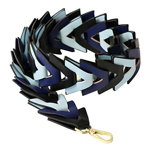 Sweet Deluxe Taschengurt, blau Mix I Schmuckset für Damen I Modeschmuck Set für Frauen I modisches Design Accessoires Set