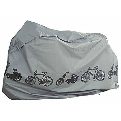 Premium Bâche vélo fahrradabdeckung Garage à vélo universel pour E-bike/Scooter/Vélo cyclomoteur Étui de protection, bâche étanche [110cm x 200cm] couleur: gris