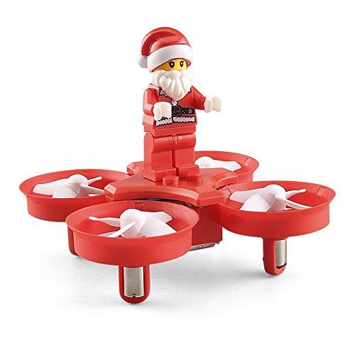 Faltbar RC Quadcopter, JJRC H672.4GHz 4CH Headless Modus Flying Santa Claus Mini RC Flugzeug Drohne mit LED Musik–Ein Schlüssel Return–360Grad Flip–Rot