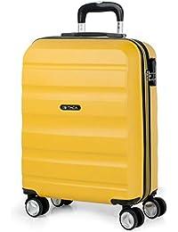 ITACA - Maletas de Viaje Trolley ABS. Rígidas, Resistentes y Ligeras. Mango, Asas y 4 Ruedas. Candado Integrado.