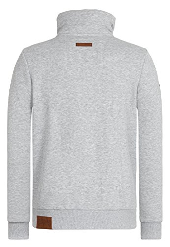 Naketano Male Zipped Jacket Du Affenmensch IV Grey Melange