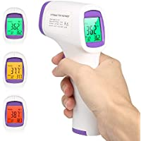 Pistola de temperatura frontal, sin contacto, lecturas instantáneas precisas, digital de infrarrojos profesional, sin contacto, para recién nacidos, niños, adultos