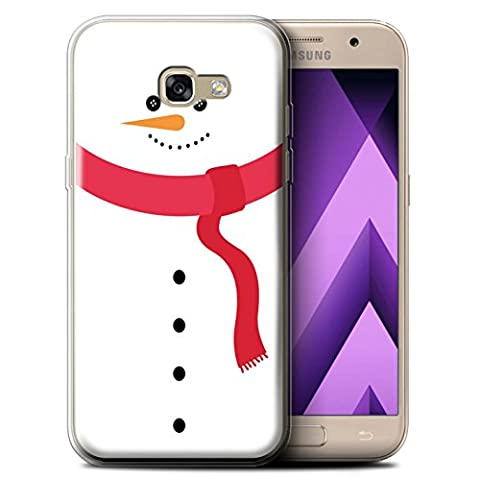 Coque Gel TPU de STUFF4 / Coque pour Samsung Galaxy A5 (2017) / Bonhomme Neige Design / Caractère de Noël Collection