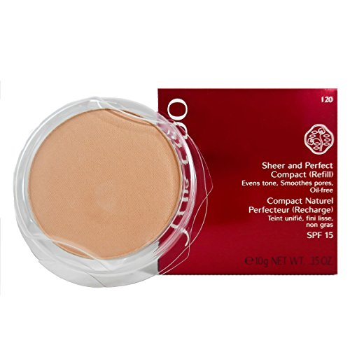Sheer Finish Compact Foundation (Shiseido Sheer und Perfect Compact Refill unisex, Puder Foundation 10 g, Farbnummer: I20 light ivory Refill, 1er Pack (1 x 0.21 kg))