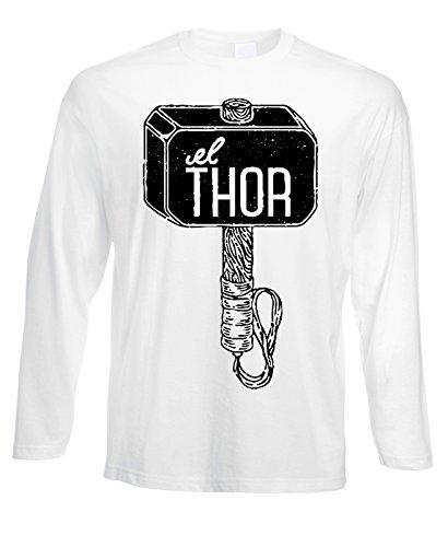 Tshirt a maniche lunghe Thor martello hammer - in cotone by Fashwork