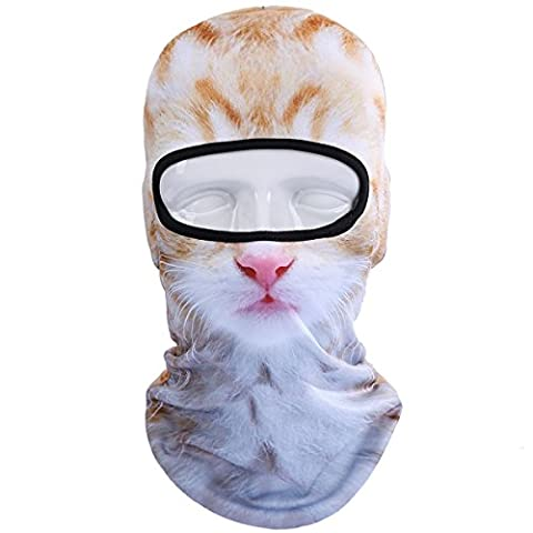 JIUSY Animal Balaclava Face Mask Breathable Speed Dry Outdoor Sports Riding Ski Head Cover Motorcycle Cycling UV Protection Helmet BNB10